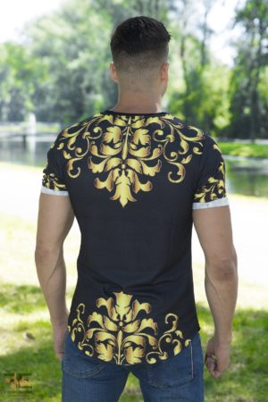 King Midas Golden Touch Heren T-Shirt – zwart 3