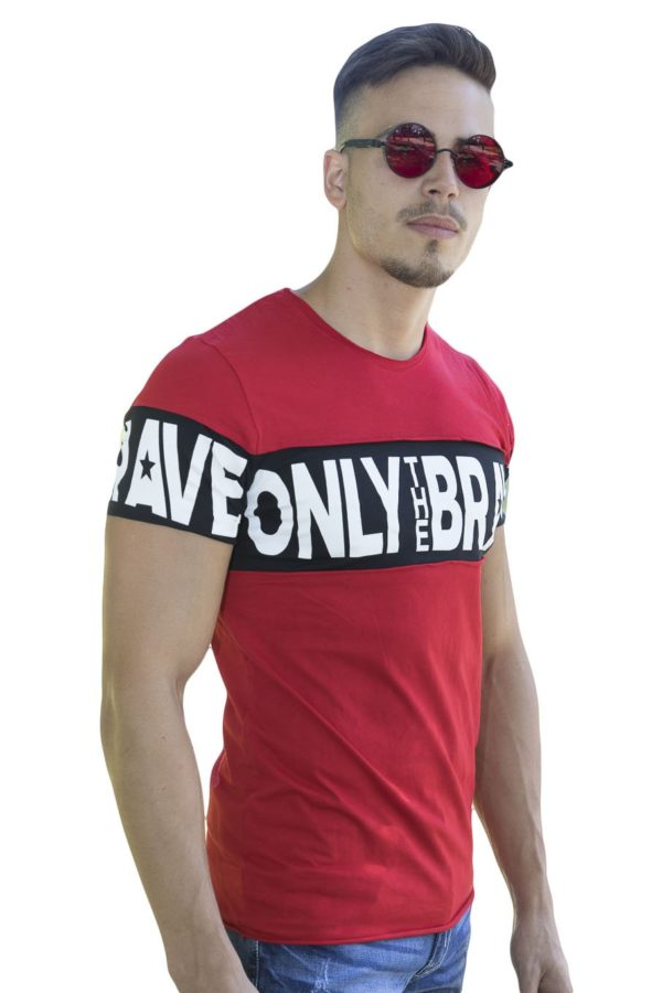 Red Brave Heren T-Shirt – Rood 2