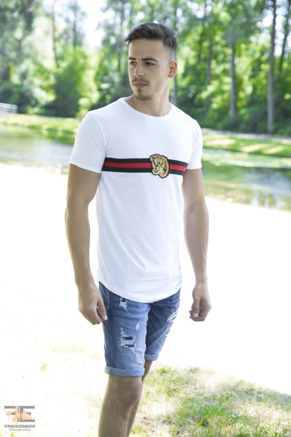 Creature Rood Band Heren T-Shirts – Wit 102