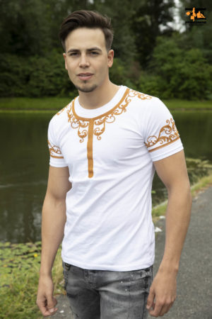 De African Heren T-Shirt v3 – Wit 2